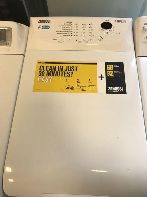 Zanussi LINDO100 felültöltős mosógép